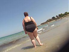 black swimsuit bbw